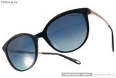 Tiffany&CO.太陽眼鏡 TF4117B 80014U (黑-金) 奢華簡約貓眼偏光款 # 金橘眼鏡