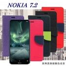 【愛瘋潮】諾基亞 Nokia 7.2  經典書本雙色磁釦側翻可站立皮套 手機殼 側掀皮套