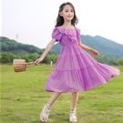 洋裝 女童洋裝連衣裙夏裝洋氣新款女大童夏季兒童短袖公主裙小女孩裙子 快速出貨