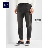 Gap男裝 中腰直筒束腿牛仔褲 男士休閒長褲 199446-水洗黑