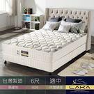 【LAKA】涼感紗+蠶絲 三線蜂巢式獨立筒床墊(Free night系列)雙人加大6尺
