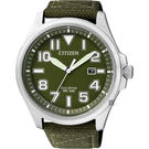 CITIZEN Eco-Drive 光動能復刻飛行腕錶-綠/44mm AW1410-32X