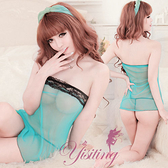 情趣蕾絲睡衣 性感呢喃!挑逗誘惑小可愛睡衣 水藍 性感睡衣   530836