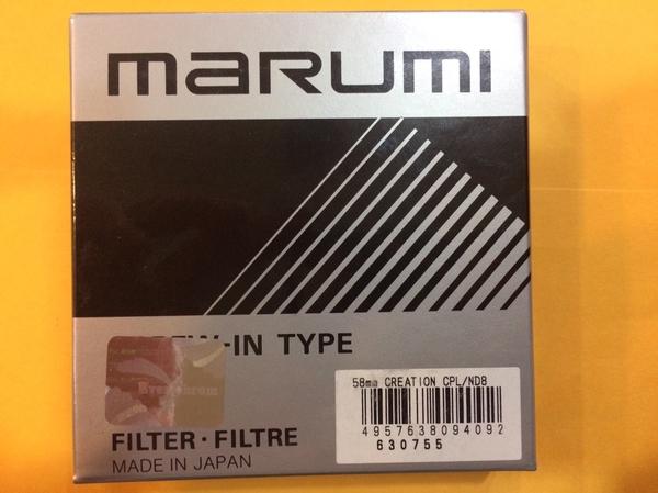 日本 Marumi 58mm DHG CREATION C-PL ND8 減光偏光鏡超薄框多層鍍膜【 彩宣公司貨】