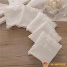 5條 白色純棉內褲女中腰大碼全白花邊甜美可愛少女學生三角褲【小獅子】