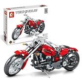 樂高積木哈雷摩托車模型拼裝兒童節禮物男孩子6-10歲14歲以上玩具 初色家居館