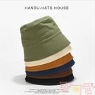 日本小眾設計師款復古水桶帽盆帽時尚街頭棉...