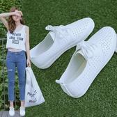 新款薄款透氣小白鞋女鞋春夏百搭爆款鏤空白鞋子2020年夏季板鞋 後街五號
