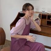 赫本風可鹽可甜輕熟職業閨蜜洋氣背帶裙減齡姐妹兩件套裝裙子女夏