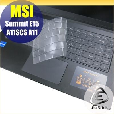 【Ezstick】MSI Summit E15 A11SCS 奈米銀抗菌TPU 鍵盤保護膜 鍵盤膜