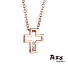 鑽石重量:2顆配鑽約0.02克拉 鑽石顏色/淨度:F/VS2 貴金屬材質:18K玫瑰金