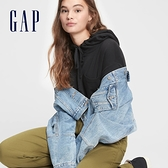 Gap女裝 個性高腰寬鬆式桶型休閒褲 617009-橄欖綠