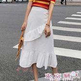 長裙 韓版半身裙高腰包臀魚尾裙裙★東京戀人MS.Q★7331