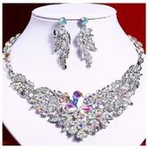 歐美時尚氣質女水晶水鑽裝飾項鏈晚宴新娘禮服合金首飾鎖骨鏈 KV6303 『小美日記』