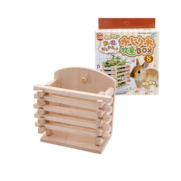 寵物家族-日本Marukan-MK-ML-111木製牧草盒S