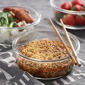 日式大號密封泡面碗耐熱玻璃碗筷套裝家用帶蓋保鮮沙拉碗組合第七公社