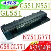 ASUS電池(保固最久)-華碩 A32N1405,G551電池,G771電池,N551,N751電池,GL551,GL771電池,G58,G551JK