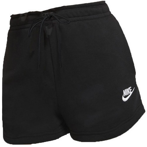 NIKE NSW ESSNTL FLC HR SHORT 女款 黑色 運動 短褲 CJ2159010