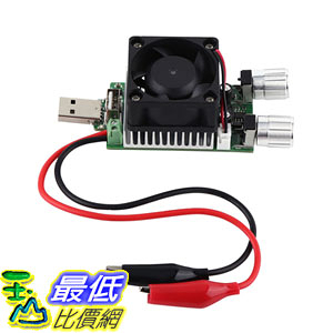 [7美國直購] 35W DC 3V-21V 3A Adjustable USB Electronic Load Battery Discharge Tester Fan SG