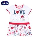 chicco- 時尚派對-LOVE吉娃娃短袖洋裝