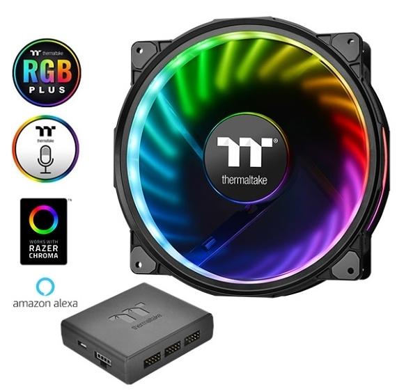 【超人百貨F】曜越 Riing Plus 20 LED RGB機殼風扇TT Premium頂級版 (單顆包裝搭配控制盒)