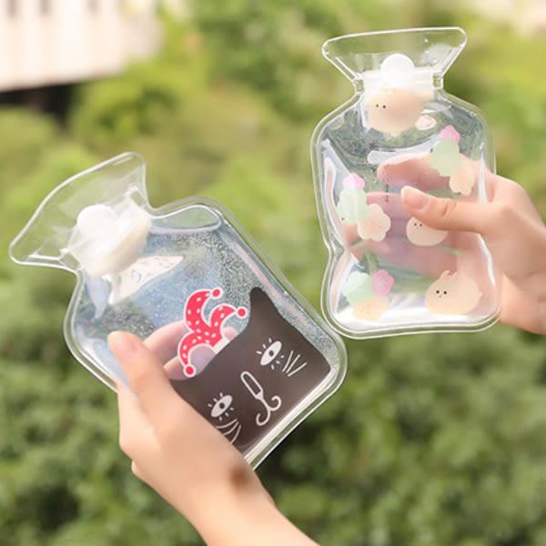 【BlueCat】紳士貓透明PVC注水型熱水袋