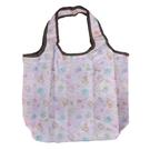 小禮堂 角落生物 折疊尼龍環保購物袋 保冷提袋 環保袋 側背袋 (粉 睡衣) 4580433-09002