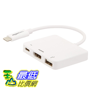 [106美國直購]  AmazonBasics 數字適配器 USB 3.1 Type-C Digital AV Multiport Adapter