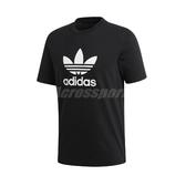 adidas 短袖T恤 Trefoil T-Shirt 黑 白 男款 運動休閒 【PUMP306】 CW0709