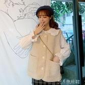 2019秋季新款韓版減齡少女寬鬆開衫無袖坎肩仿羊羔毛馬甲外套女