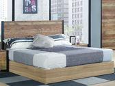床架SB 015 1A 韋恩5 尺厚切木紋雙人床床頭床底不含床墊~大眾家居舘~