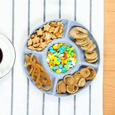 ✭慢思行✭【N292】五格零食水果盤 家用 客廳 零食 小盤子 圓形 分割 零食盤 料理 廚房