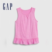 Gap女童簡約風格荷葉邊飾上衣577832-玫紅色