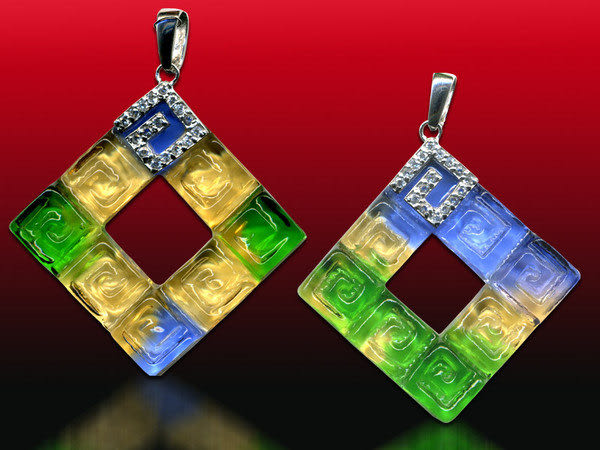 鹿港窯~開運古法水晶琉璃銀飾項鍊~今生相隨 附精美包裝◆免運費送到家