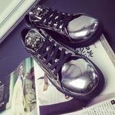 馬丁靴 夏季男鞋英倫皮工裝靴子亮面漆皮短靴皮鞋板鞋 nm6001【Pink中大尺碼】