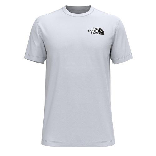 The North Face 男Hiker 正面/背面圖形圓領T恤衫(白色)