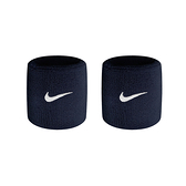 NIKE Swoosh單色腕帶(慢跑 路跑 籃球 網球 羽球 一雙入 免運 ≡排汗專家≡