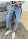 找到自己 品牌 韓國原裝 不規則 前短後長設計 褲子 復古男褲 寬褲 寬腿 復古 風格 牛仔 褲 男