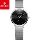 JULIUS聚利時 淬鍊風華簡約不鏽鋼米蘭帶腕錶-優雅黑面銀/30mm 【JA-426LB】