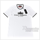 D&G經典印花LOGO皇冠設計棉質短袖T恤(白)