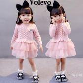 小女孩女寶寶1秋季0女嬰幼兒3歲女童裝2春秋公主4針織洋裝子潮5