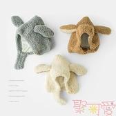 兒童帽子秋冬季嬰幼兒男女童加厚純棉護耳帽【聚可愛】