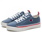 CHAMPION 休閒鞋 湖水藍 白藍紅條紋 帆布鞋 女 (布魯克林) 912220193