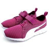 《7+1童鞋》中童  PUMA  Carson 2 V PS  輕量 透氣 休閒 運動鞋 8236 紫色