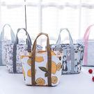 日式印花手提便當袋 便當包 午餐包 保溫...
