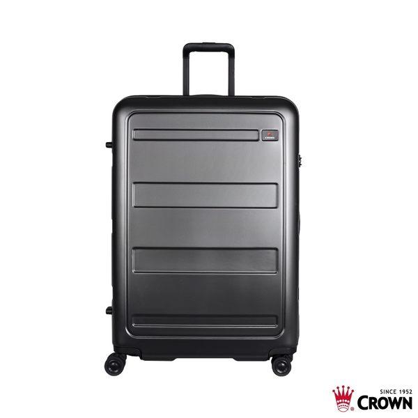 皇冠 CROWN 29吋 雙層防盜拉鍊 輕量 PC 行李箱 C-F1783 鐵灰色 拉桿箱 旅行箱