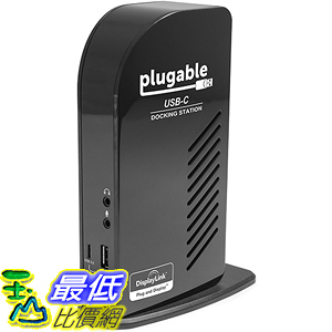 [美國直購] Plugable UD-ULTCDL 充電集線器 USB-C Triple Display Docking Station