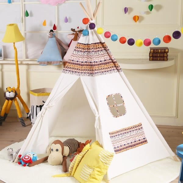 【發現。好貨】韓國印第安民族風純棉寶寶帳篷 寶寶嬰兒遊戲屋 野餐帳篷 野餐墊 兒童拍攝道具