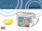 《Midohouse》『日本製 PP243006透明調味盒附匙 』