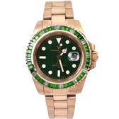 手錶 鋯石玫金鋼錶 范倫鐵諾.古柏NEV117